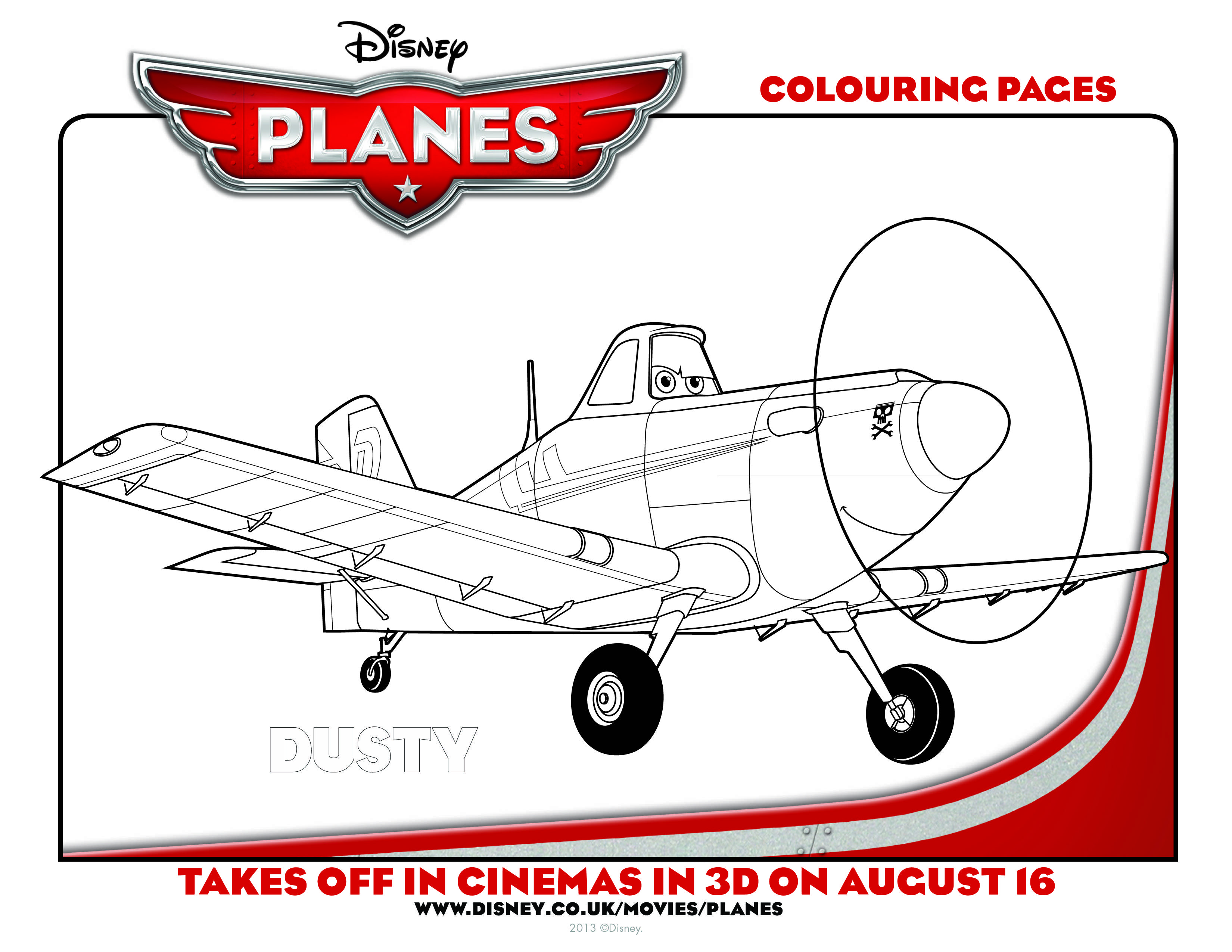Dusty Planes Coloring Pages - Worksheet & Coloring Pages