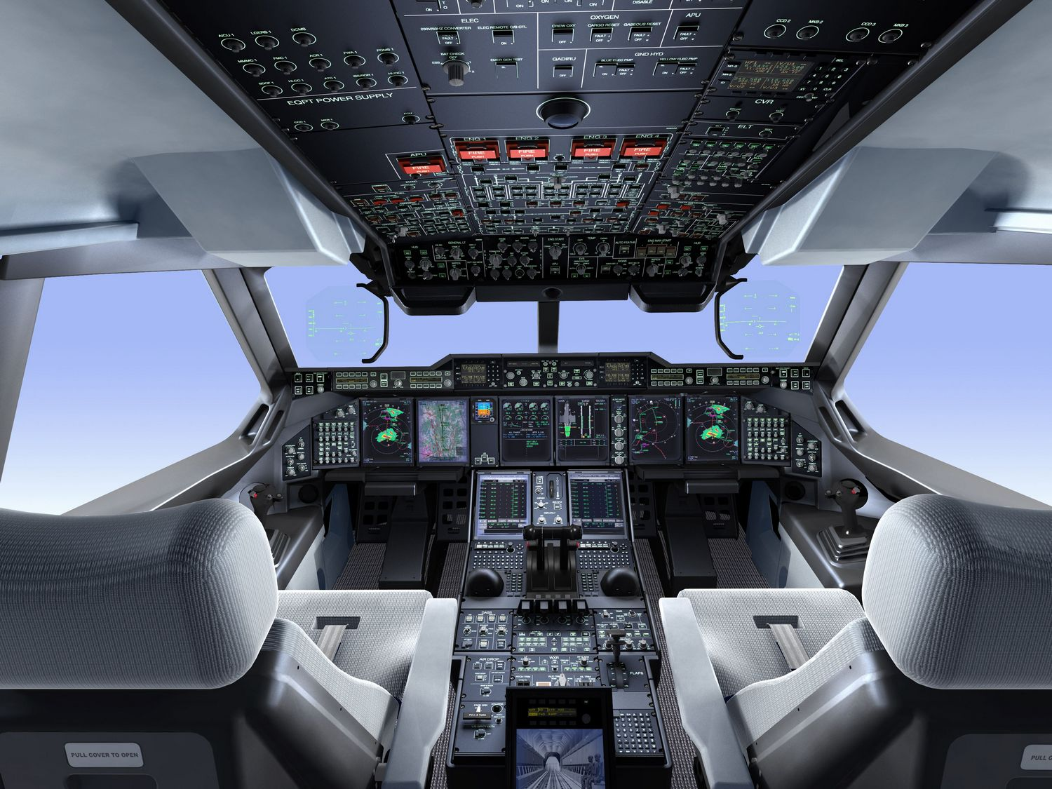 challenger 605 cockpit by jet airlines (19)