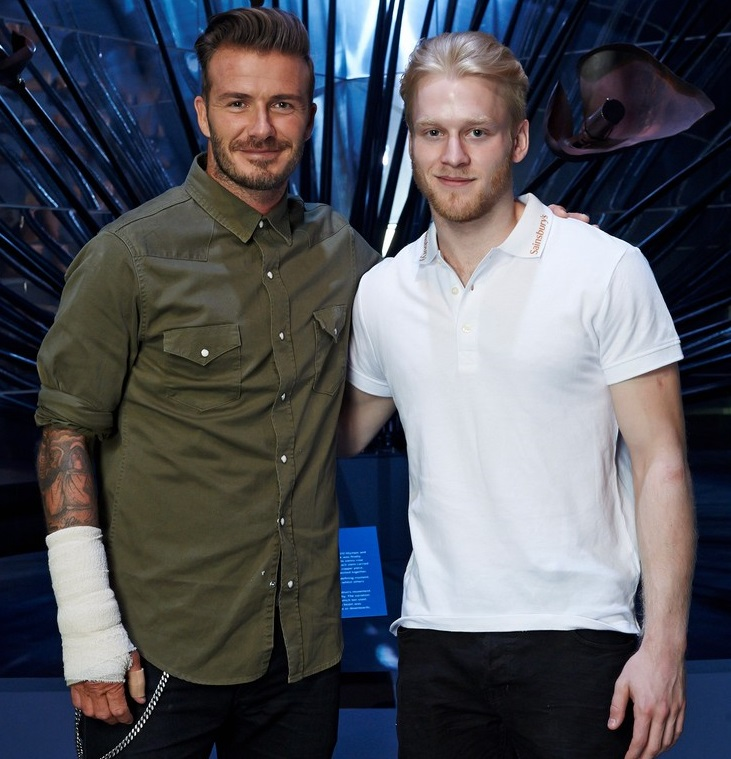 Sainsbury's Active Kids Ambassador David Beckham Holds Motivational Session For Young Athletes