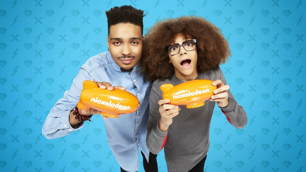 Jordan-Banjo-And-Perri-Kiely-Nickelodeon-28th-Annual-Kids-Choice-Awards-2015-Hosts-Presenters-Holding-KCA-Blimps