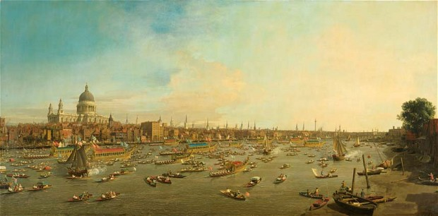Canaletto-River-Thames-on-Lord-Mayors-Day-1746