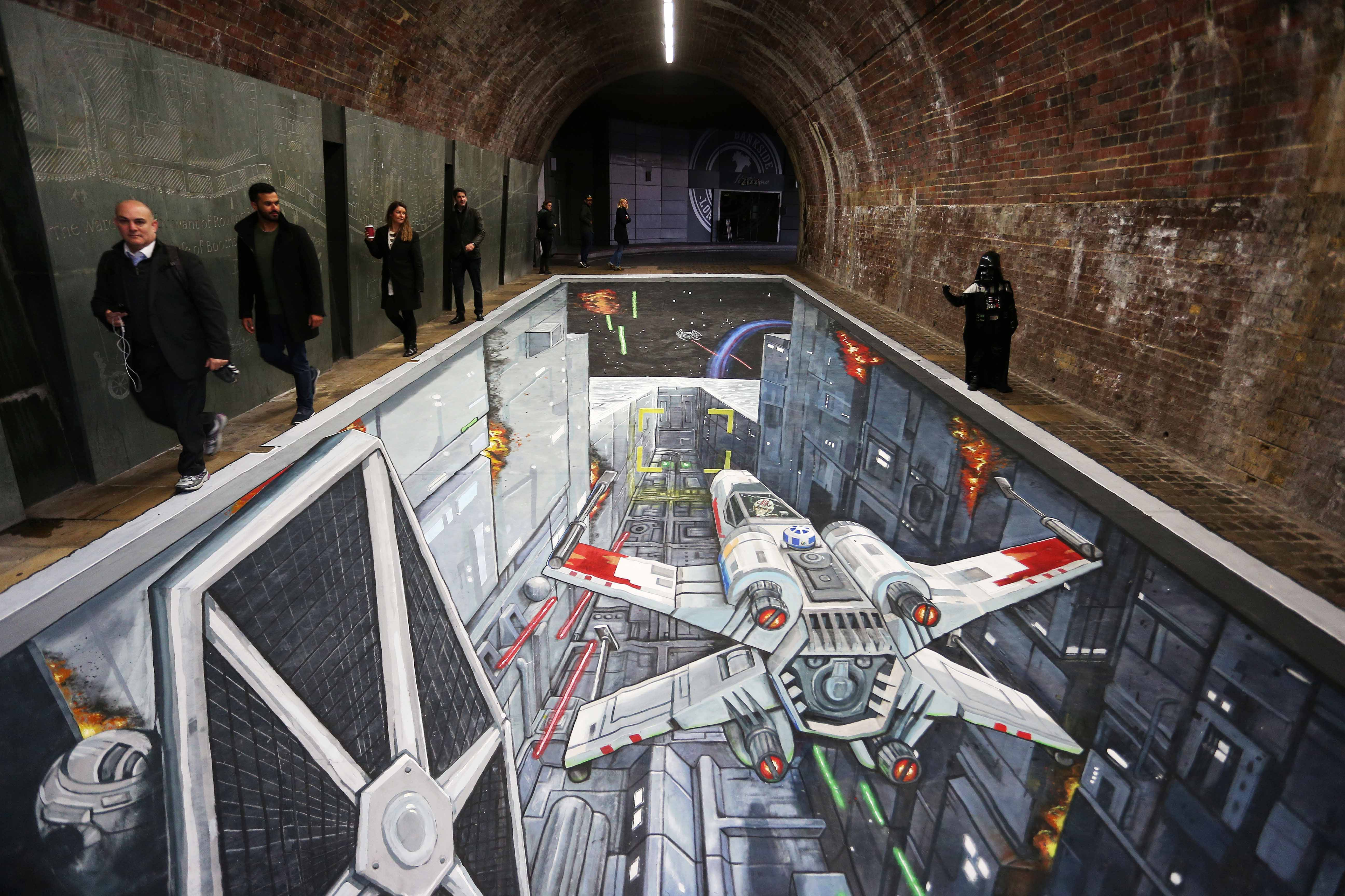 COMMUTERS TRANSPORTED INTO EPIC DEATH STAR TRENCH RUN