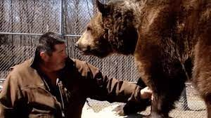 Man Cuddles Bear
