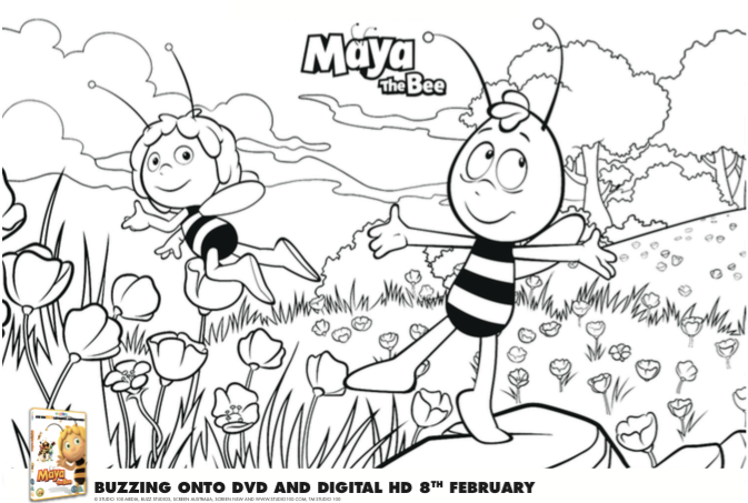Maya the bee colouring sheet