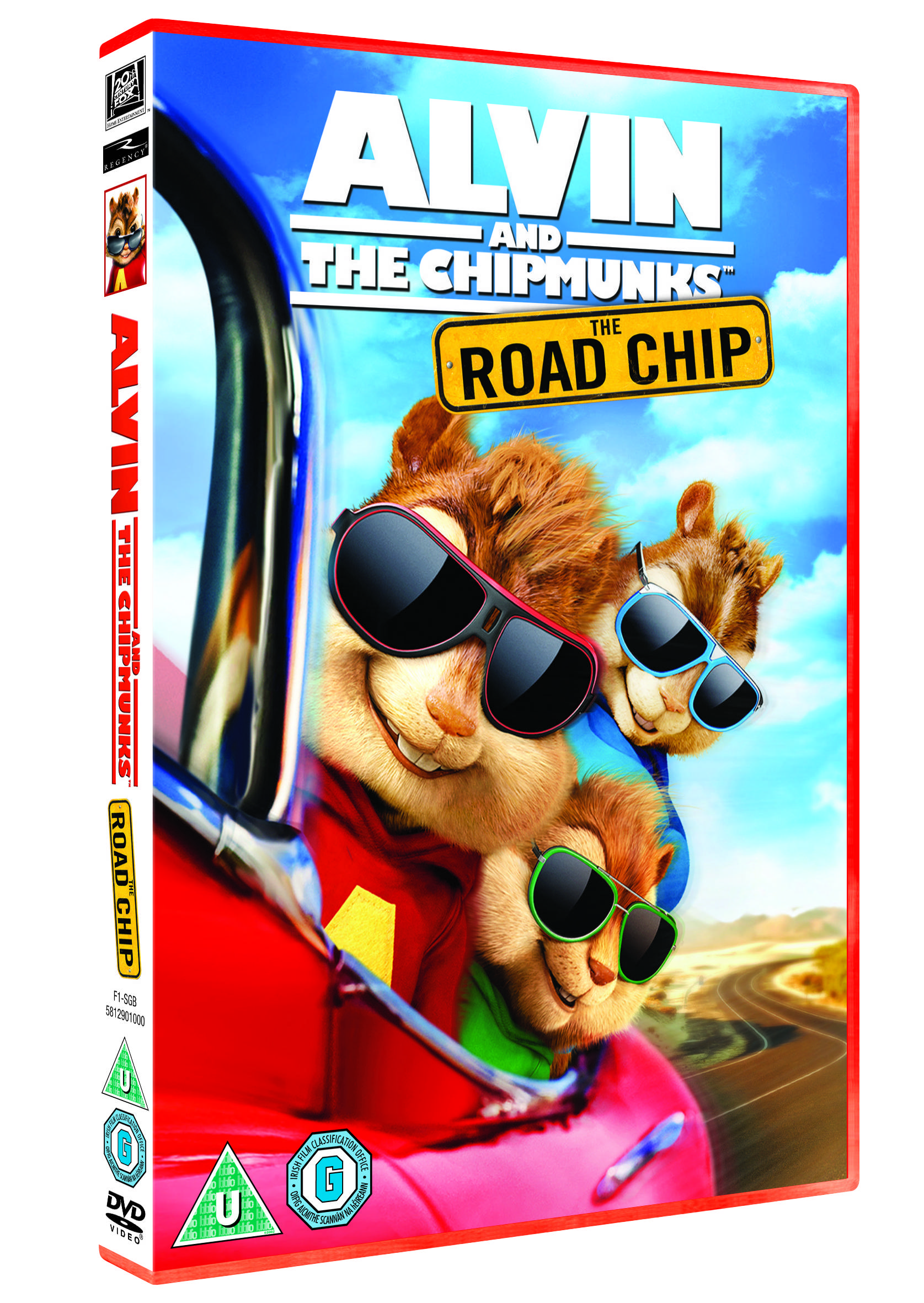 ALVIN AND THE CHIPMUNKS THE ROAD CHIP UK DVD 3D PACKSHOT