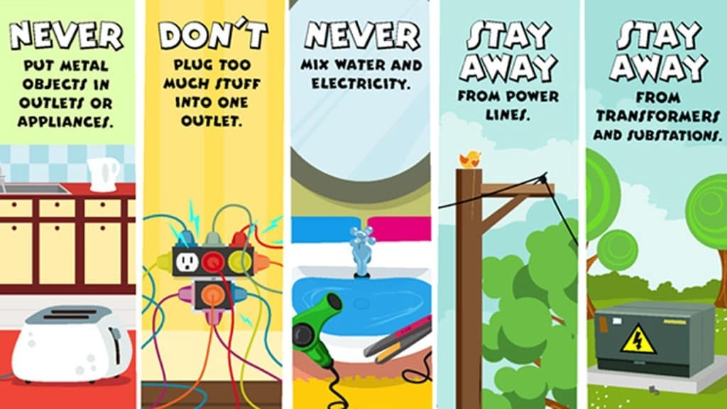 Image result for stay safe electricity