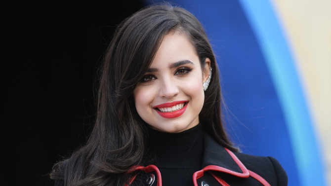 Mandatory Credit: Photo by Erik Pendzich/REX/Shutterstock (5445141bi) Sofia Carson Macy's Thanksgiving Day Parade, New York, America - 26 Nov 2015