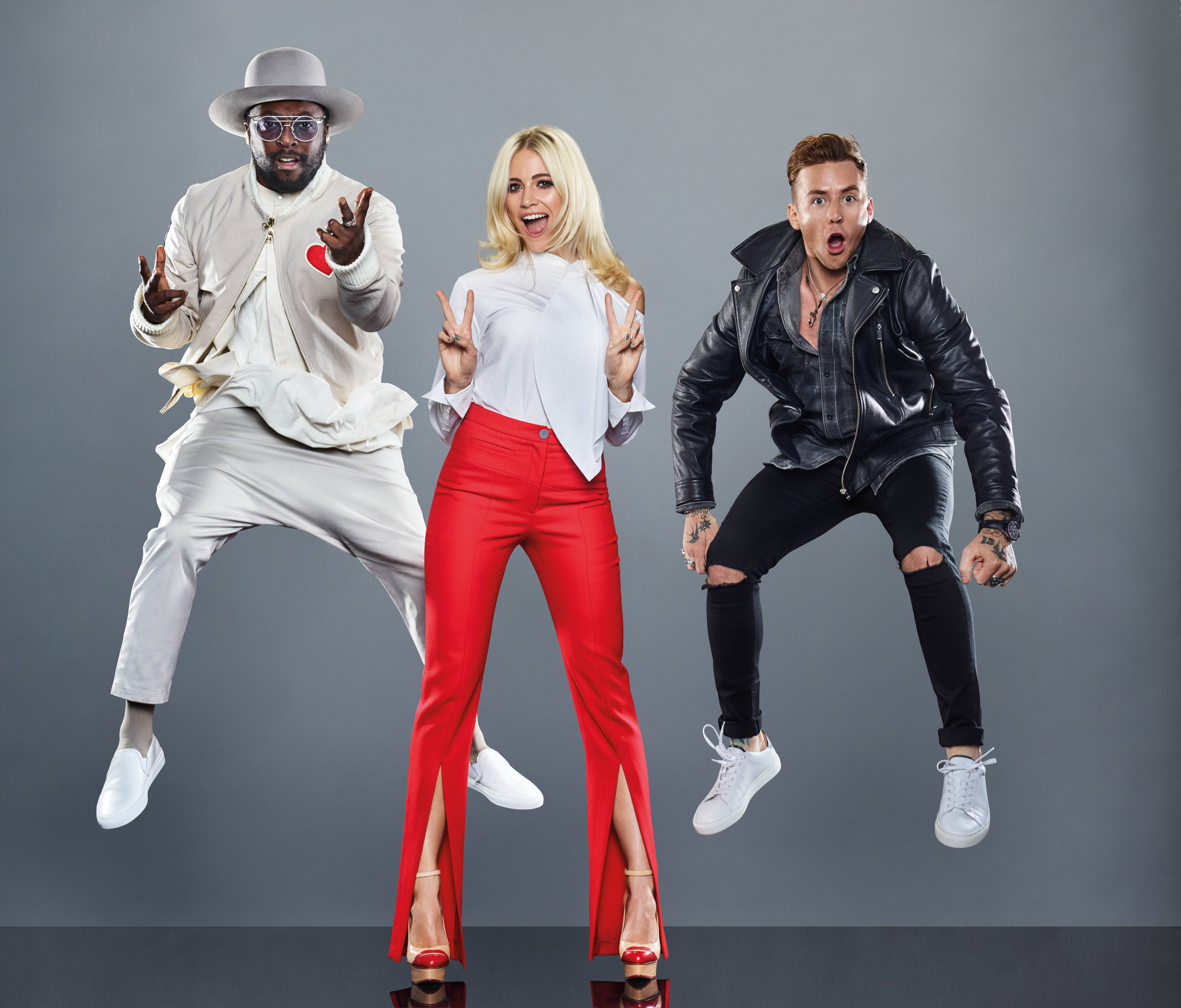 From ITV Studios The Voice Kids on ITV Pictured: will.i.am, Pixie Lott and Danny Jones. This photograph is (C) ITV Plc and can only be reproduced for editorial purposes directly in connection with the programme or event mentioned above, or ITV plc. Once made available by ITV plc Picture Desk, this photograph can be reproduced once only up until the transmission [TX] date and no reproduction fee will be charged. Any subsequent usage may incur a fee. This photograph must not be manipulated [excluding basic cropping] in a manner which alters the visual appearance of the person photographed deemed detrimental or inappropriate by ITV plc Picture Desk. This photograph must not be syndicated to any other company, publication or website, or permanently archived, without the express written permission of ITV Plc Picture Desk. Full Terms and conditions are available on the website www.itvpictures.com For further information please contact: james.hilder@itv.com / 0207 157 3052