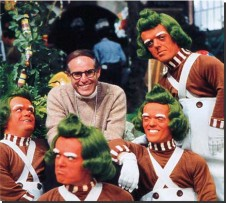 Mel Stuart on set of WILLY WONKA AND THE CHOCOLATE FACTORY